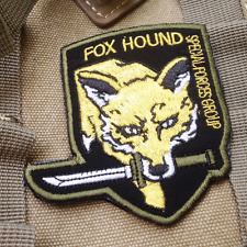 Usa Specia Force Patches Fox hound Tactical Army Morale Hook & Loop Patch