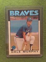 DALE MURPHY BASEBALL Card MLB 1986 Topps #600 Atlanta Braves OF - New From Pack!