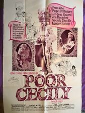 Poor Cecily (1974) original X-rated movie Poster AUTOGRAPEHD BY USCHI DIGARD
