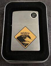 Zippo Lighter Heavy Surf Warning Sign Design