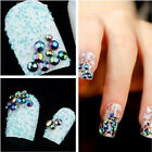 300 pcs 3D Nail Art Tips Crystal Glitter Rhinestone H2L3 Decoration + Wheel