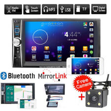 """7"""" Android Car Stereo MP5 Player Touch Screen Cam Radio Bluetooth E-link 2DIN"""
