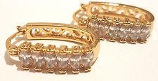 Women Lady Elegant Crystal Rhinestone Ear Stud Huggie Earrings