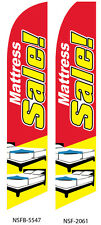 TWO Mattress Sale 15 foot Swooper Feather Flag Sign