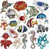 Fashion Pearl Crystal Fish Lobster Breastpin Brooch Pin Wedding Costume Gifts