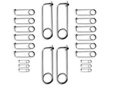 MOTO-D Spring Clip Racing Safety Pins Assorted (25/Pack)