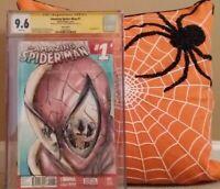 AMAZING SPIDER-MAN:#1 CGC 9.6 SS SHELBY ROBERTSON SKETCH BLANK;SLOTT RAMOS VENOM