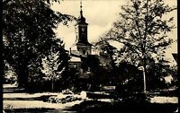 Lindow Mark Brandenburg DDR Ansichtskarte 1957 Blick auf die Kirche Kirchgarten