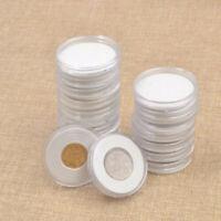 20 Teile Münze Hüllen Halter Angewendet Klar Plastik Rund Aufbewahrungsbox Kit