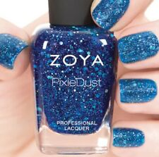 ZOYA ZP766 NORI blue Magical PixieDust nail polish w/ hex glitter~ WISHES color