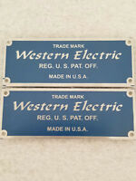 Western Electric Badges (pair) BLUE (Listing #2)