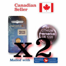 CR1220 x 2 NEW! Renata Lithium 3V Coin Button Battery