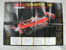P59-ARS-SUPER POSTER GRAND PRIX RACE KALENDER 1981,ALFA ROMEO, F1