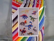 COMPLETE Quilling Kit con Strumento + carta + istruzioni Dinosauri KD 9