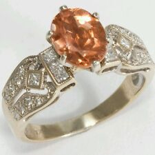 18kt Diamond and Peach Tourmaline Ring. 2.60 TCW
