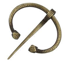 Medieval Renaissance Viking Oval Brass Brooch