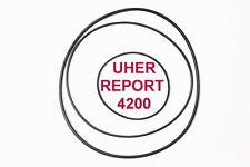 SET RIEMEN UHER REPORT 4200 TONBANDMASCHINE EXTRA STRONG FABRICKFRISCH BELT