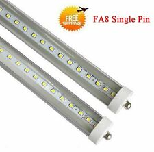 10Pcs 8 Foot 40w LED Single Pin FA8 T8 T12 Fluorescent Replacement 6500K CLEAR