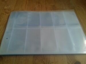 20 x 10 Pocket Plastic Cigarette Card Album Page Sleeves For Glen Albums etc.