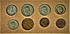 Switzerland, 8 coin lot w/ 1907 and up including 1944 1/2 Francs silver coin E.F