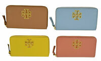 NWT Tory Burch BRITTEN Zip Continental Wallet Many Colors $248+
