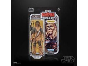 Star Wars 40th Anniversary Black Series Chewbacca TESB Action Figure