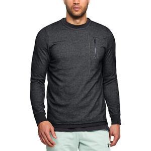 Under Armour UA ColdGear Sweatshirt Pursuit Block Fleece Crew Black Sweater
