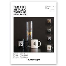 Sunnyscopa Film-free Metallic Waterslide Decal Paper