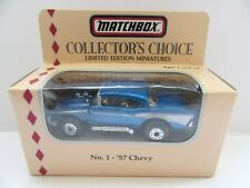 Matchbox Superfast 4d '57 Chevy - Metallic Blue/Silver - Mint/Boxed (a)