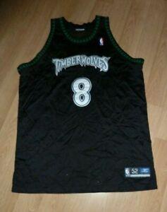 NBA Reebok Minnesota Timberwolves Latrell Sprewell#8 Stitched Jersey Size 52