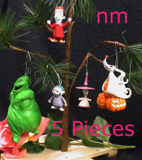 "5 piece set, Nightmare Before Christmas Tree Ornament Set ""Shock, Barrel & Lock,"