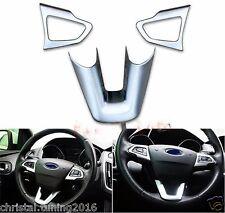 Ford Focus MK 3 2014 - 2017 Rahmen für 3 Speichen Lenkrad silber