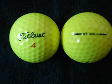 """10 TITLEIST DT SOLO - """"YELLOW OPTIC""""  - Golf Balls - """"PEARL/A"""" Grades."""