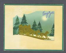 Tony Zale signed Holiday card plus original Mass card