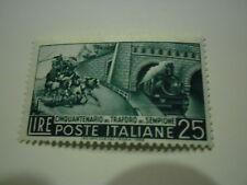 TRAFORO DEL SEMPIONE 1956 FRANCOBOLLO NUOVO DA L.25 REPUBBLICA ITALIANA - AFFARE