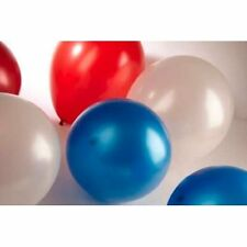 "30 Red/White and Blue 12"" Metallic Latex Helium Balloons-Queens Jubilee/Olympics"