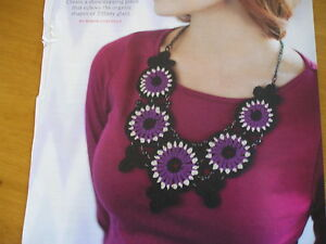 CROCHET PATTERN FOR NECKLACE.