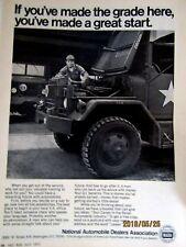 "U.S. ARMY 1972 NADA Original Print Ad- 8.5 x 11"""