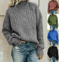 Winter Women's Long Sleeve Knitted Baggy Sweater  Jumper Oversized Pullover Tops