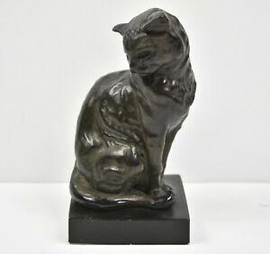 Revival Art Co. Bronze 'FREMIET CAT' Animal Sculpture Statue Emmanual Fremiet