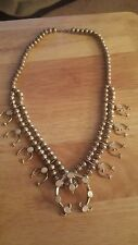 VINTAGE Squash Blossom Navajo Mother-of Pearl-Necklace Sterling Silver!!!!