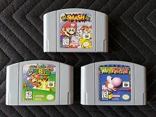 Nintendo 64 (N64) 3 Game Lot - Super Smash Bros - Super Mario 64 - Yoshi's Story