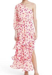 Alexis Dress for Target Floral One Shoulder Ruffle Dress Size Large