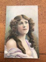 early 1900s colour postcard . miss venie clements