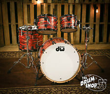 DW Collector's Jazz Series Cherry/Gumwood Shells, Tiger Oyster FinishPly