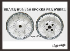 "386-*NEW*HONDA CB100 CL100 CL100S FRONT18""-REAR18"" WHEEL RIM+HUB+SPOKE [F9S+R7S]"