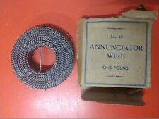 ANNUNCIATOR WIRE WITH ORIGINAL BOX NO 18 ONE POUND NO RESERVE