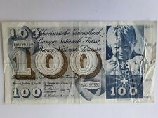 More details for switzerland  100 franc banknote   30th june 1967