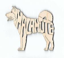 Alaskan Malamute Dog laser cut wood Magnet