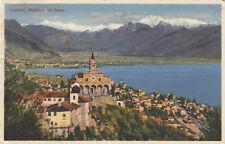 Farb-Ansichtskarte Locarno - Madonna del Sasso, echt gel. n. Biberach/Riss 1929